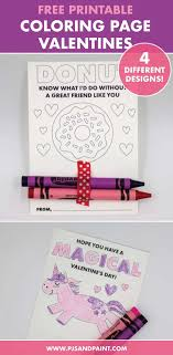 Besides being fun for the kids to color, when they're done they make great gifts for. Free Printable Coloring Page Valentines Valentines For Kids