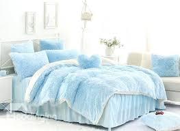 blue bedding sets solid light blue and white color blocking fluffy 4 piece bedding sets duvet blue bedding sets