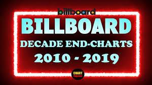 Billboard Decade End Charts 2010 2019 Top 100 Hitlist 2010s Chartexpress