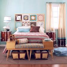 Peach Bedroom Decorating Wicker Headboard Platform Bed And Furniture Combined Peach Painted