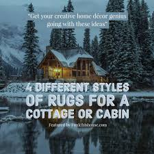 country funk with area rugs for cabins