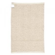 equal handmade jute area rug wave design natural bleached 4ft x 6ft