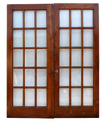 gorgeous antique oak french doors with beveled glass ned48 for