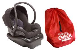 maxi cosi mico nxt infant car seat with gate check travel bag total black