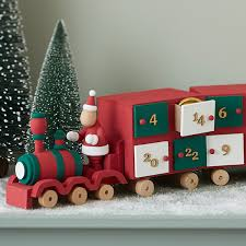 decorate your own wooden train advent calendar