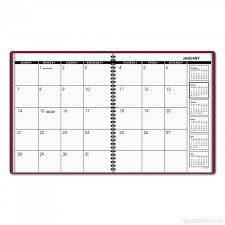 At A Glance Monthly Planner 8 7 8 X 11 Winestone 2018 2019 Tps0b6ss
