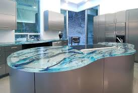 kitchen glass countertops or you can opt for an art glass kitchen it all depends on kitchen glass countertops