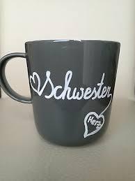 Schwesterherz Tasse Mit Spruch Geschenk Für Schwester Geschenk