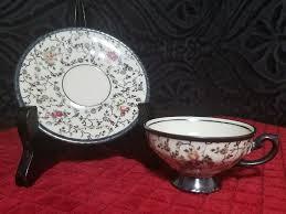 Decorative Cups And Saucers Vintage Porcelain Tea Cup Saucer Dekor RW Feinsilber Bavaria 98