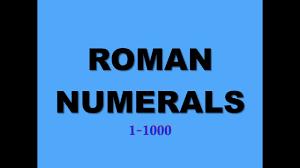 Roman Numbers 1 2000 Chart Roman Numerals 1 1000 Blue