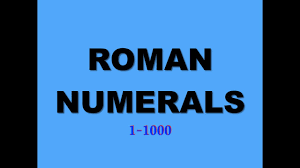 Roman Numerals 1 1000 Blue