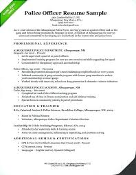 Baker Resume Sample For As Well Police Officer Example Awesome No