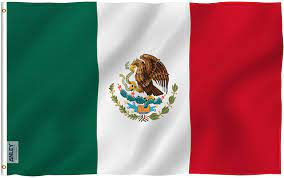 Amazon.com : Anley Fly Breeze 3x5 Foot Mexico Flag - Vivid Color and Fade  Proof - Canvas Header and Double Stitched - Mexican MX National Flags  Polyester with Brass Grommets 3 X