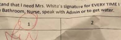 School Apologizes For Note Limiting Students To 2 Bathroom Nurse