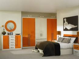 Black White Orange Bedroom Home Design