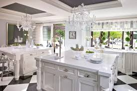 los angeles arctic white quartz kitchen contemporary with doors transitional faucets sheer valance