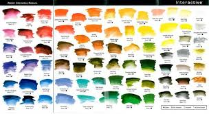 Atelier Acrylic Colour Chart Mixing Paint Color Chart Google Search I Heart Design
