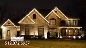 House Flood Lights Christmas Christmas Holiday Lighting Installation Dennington Decor