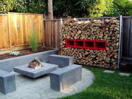 Lawn & Garden:Magnificent Outdoor Layout With Brick Wall And Compact  Grasses Also Stone Decor