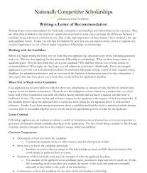 Resources For Writing Letters Of Recommendation Nationally