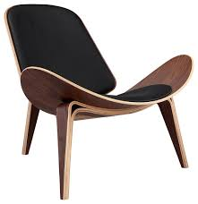 tripod plywood modern lounge chair genuine italian leather midcentury armchairs and accent chairs by karl