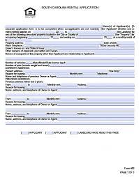 rent application form doc free south carolina rental application pdf word doc