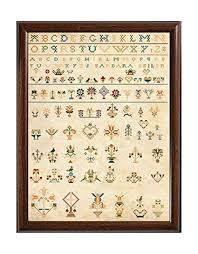 Amazon Com Antique Amish 19th Century German Sampler