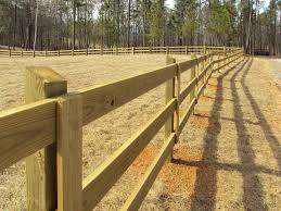 wood fence for ranch