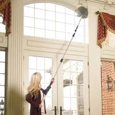 ceiling fan duster with extension pole. 18-piece commercial-quality aluminum telescoping duster kit   frontgate ceiling fan with extension pole
