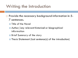 literary analysis essay writing the introduction  provide the  writing the introduction  provide the necessary background information in 5 7 sentences