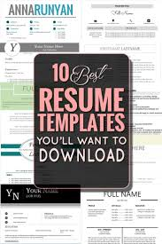 best images about job search job success the 10 best resume templates you ll want to