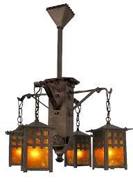 charming craftsman style chandelier at vintage hardware lighting arts and crafts