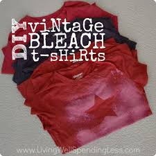 How To Make A Cool Shirt Diy Vintage Freezer Paper Bleach T Shirts Living Well