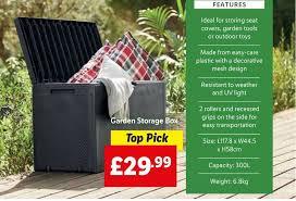 garden storage box offer at lidl