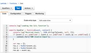 simple calculator lambda function amazon api gateway create the simple calculator lambda function