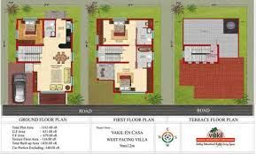 North Facing House Plans  X House Plans X North Facing     X Duplex House Plan