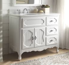 Adelina 42 inch Antique Cottage Bathroom Vanity White Finish White