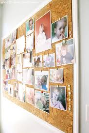 Giant cork board for pictures! Could be perfect for the wall in our kitchen!