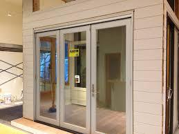 Showroom Addition Marvin Bifold Door With Contemporary Panel OT - Bifold exterior glass doors