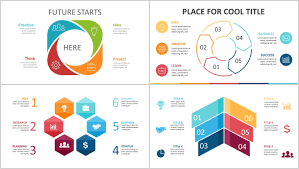 Creative Flow Chart Free 4 5 6 Steps Flow Chart Powerpoint Diagram Just Free