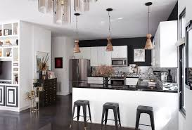 view in gallery series of 3 pendant lights over a kitchen bar