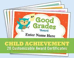 Kids Award Certificate Child Certificates Achievement Princess Award Good Grades