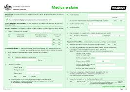 Medicare Claim Form Claim Forms Claim Forms For Medicare 1