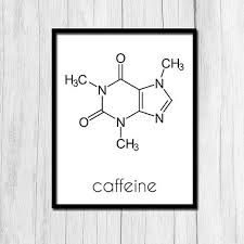 organic chemistry caffeine print chemistry gift by thenerdyfamily on organic chemistry wall art with organic chemistry caffeine print chemistry gift digital download