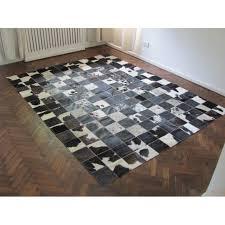t 8174 natural cowhide patchwork rug