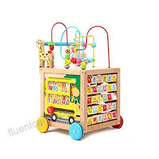 qaryyq wooden children s walker baby baby walker multi function sd wooden puzzle preschool toys toy