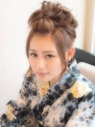 浴衣ヘアスタイルポンパの髪型 Stylistd