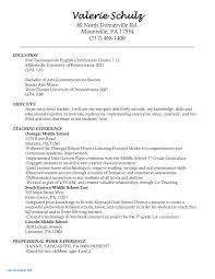 Resume Examples With No Work Experience Professional English Cv