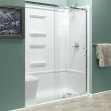 60 glass shower door halo clear chrome by maax p