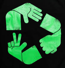 recycle sign rock paper scissors green earth global warm banksy image is loading recycle sign rock paper scissors green earth global